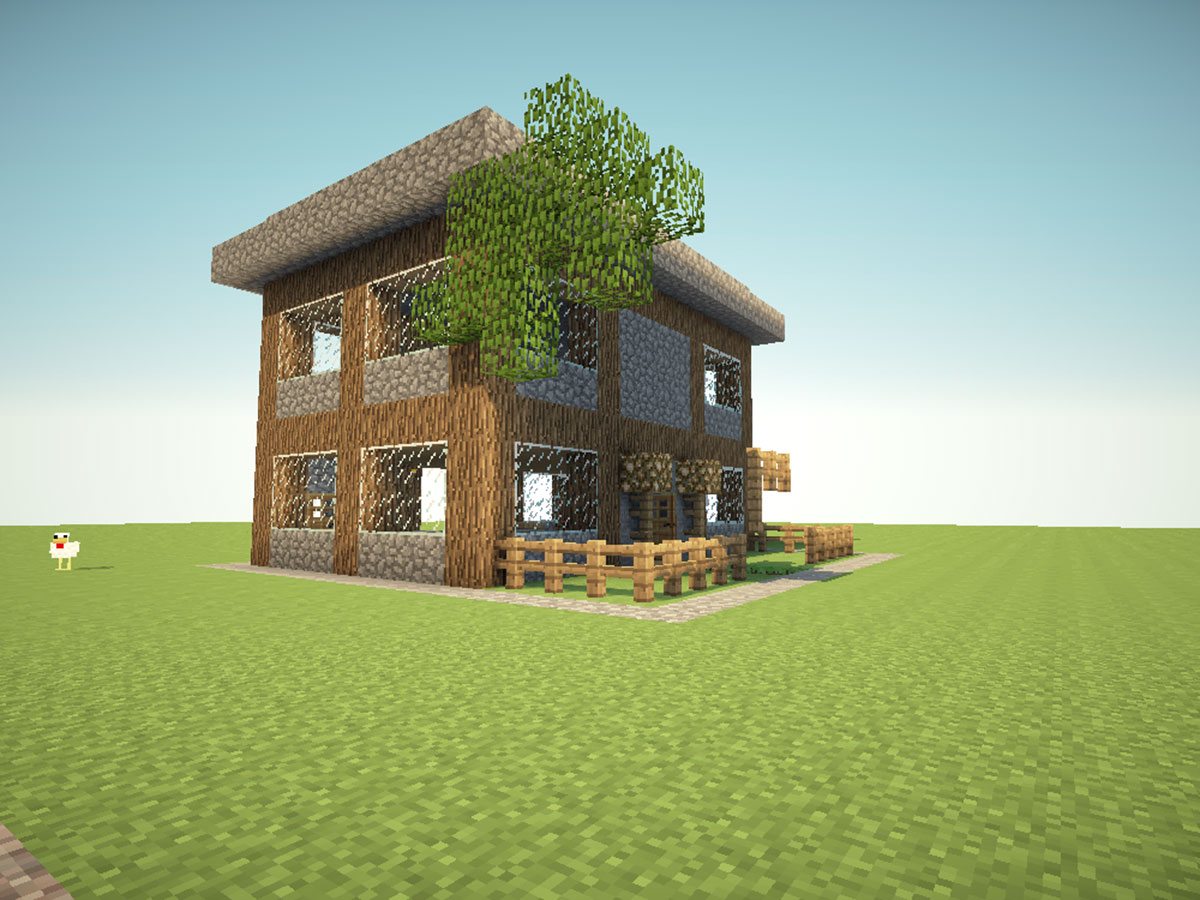 Minecraft Wooden House