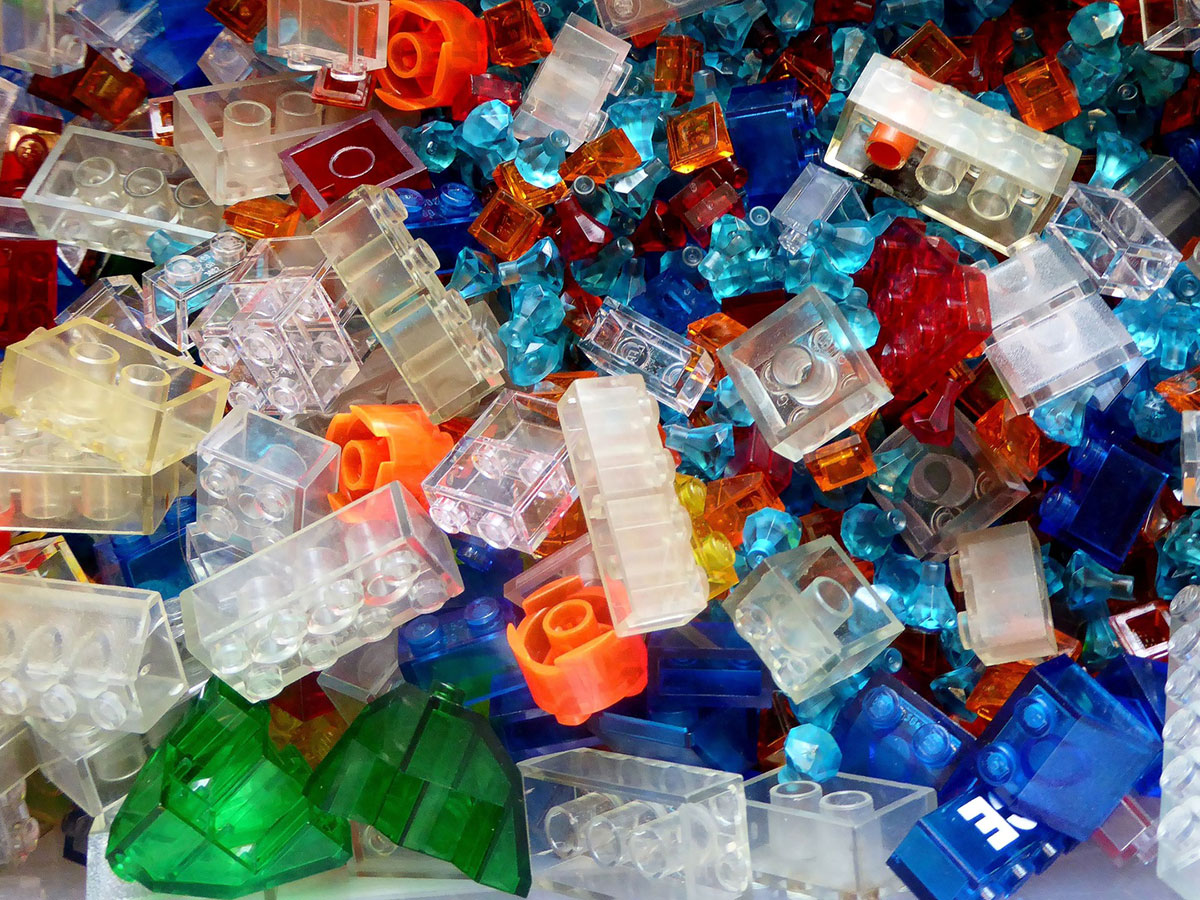 clear lego brick